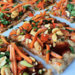 Chicken Crusted Asian Veggie Pizza
