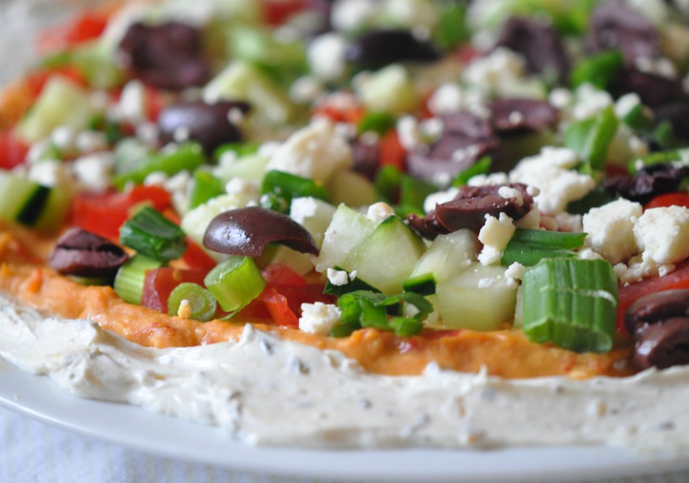 mediterranean layered spread recipe