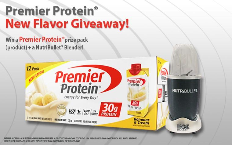 Premier Protein® Bananas & Cream Protein Giveaway