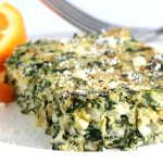 Spinach Cheese Bake Recipe – 113 Calories!