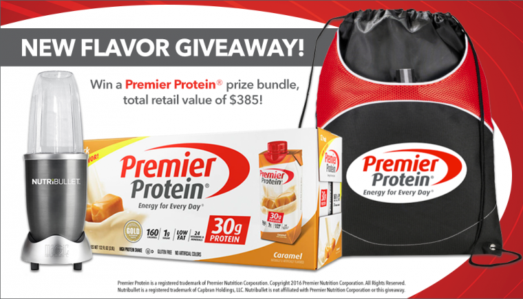 Premier Protein Caramel Shake New Flavor Giveaway