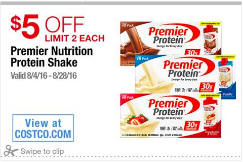 premier protein shakes going on sale at costco