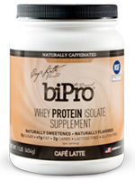 BiPro Whey Protein Isolate Supplement, Café Latte's Photo