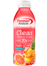 Premier Protein Clear Protein Drink, Tropical Punch