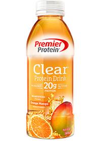 Premier Protein Clear Protein Drink, Orange Mango