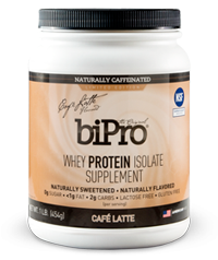 BiPro Whey Protein Isolate Supplement, Café Latte