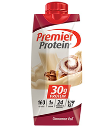 Premier Protein Cinnamon Roll Shake 11oz Bottle