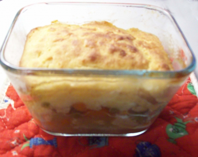 Simple carbquik chicken pot pie recipe and pics for Atkins cuisine baking mix