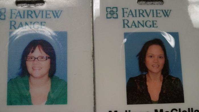 last and this years work badge whoop whoop pic inside