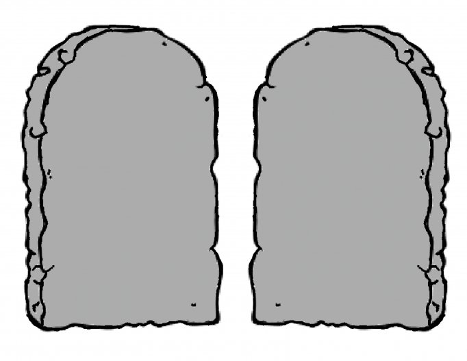 It's just a picture of Influential Printable Ten Commandments Tablets