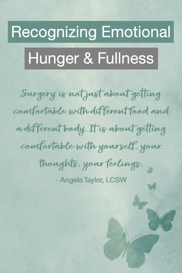 Recognizing emotional hunger