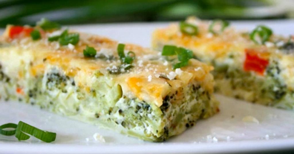 broccoli cheese quiche bites