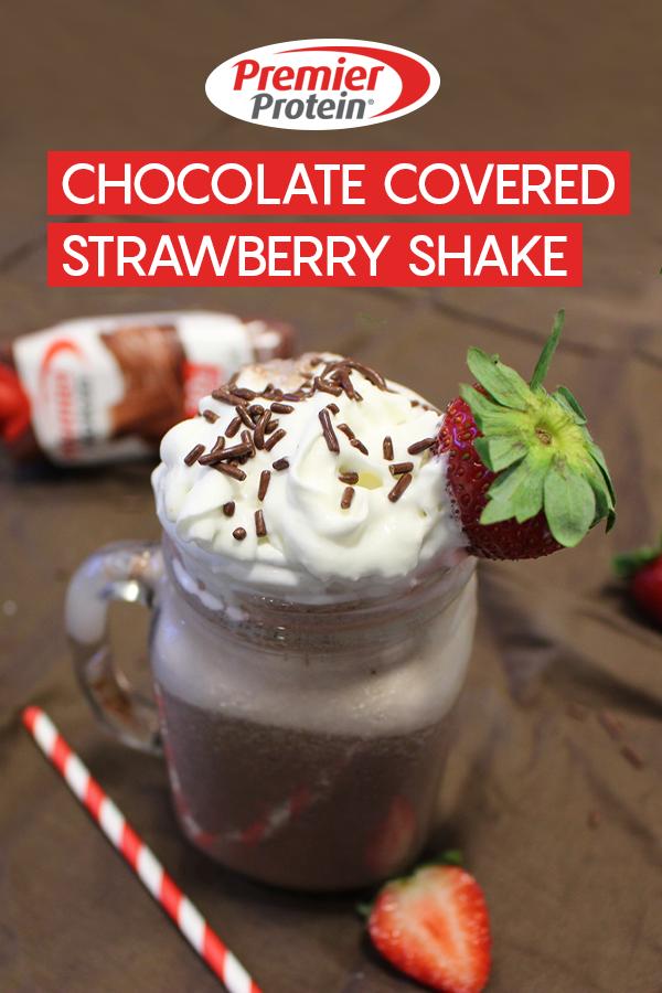 pinterest chocolate covered strawberry shake