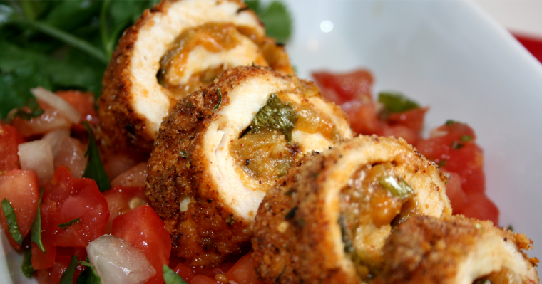 Chicken Chile Relleno Rolls