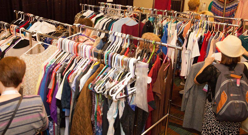 Clothing Exchange racks