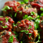 Meatloaf Meatballs Recipe, full of flavor and just 138 calories!