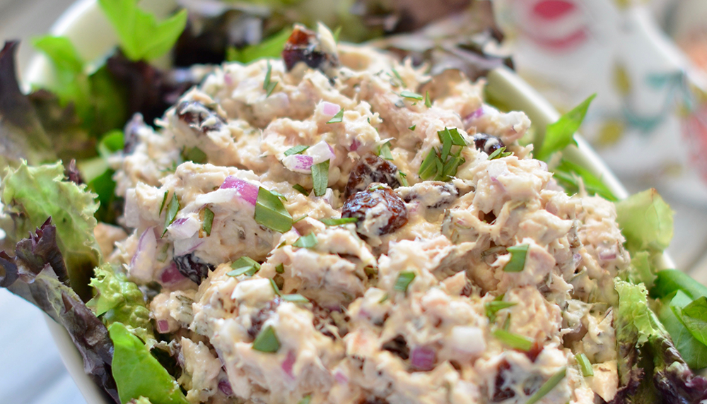cranberry tarragon tuna salad-recipe