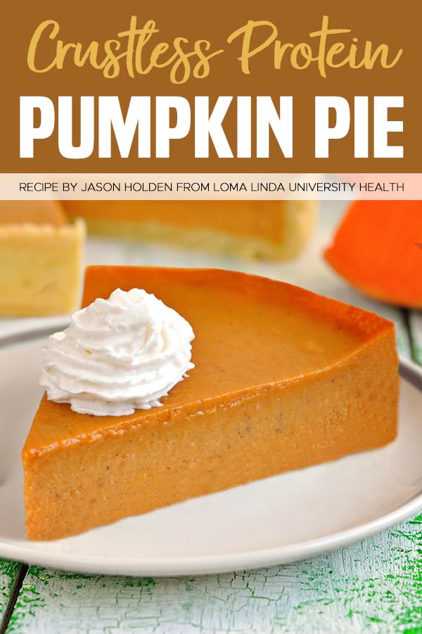 Crustless Protein Pumpkin Pie