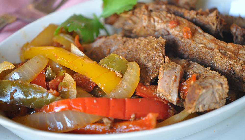 beef fajitas in slow cooker
