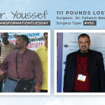Before & After VSG of Dr. Youssef, losing 111 pounds!