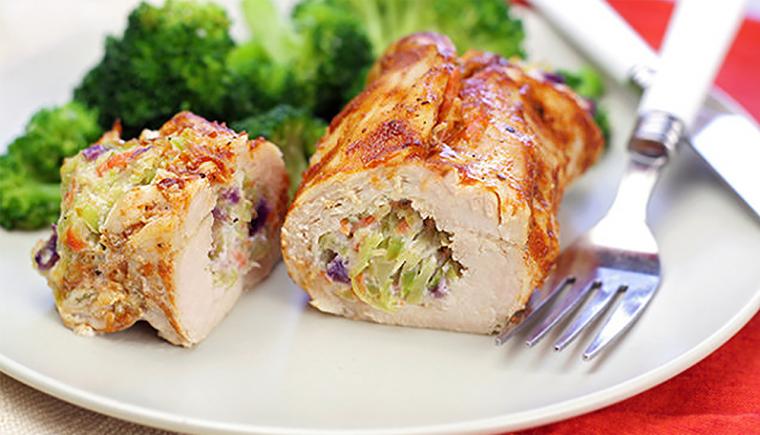 Cheesy BBQ Chicken Roll Recipe 2