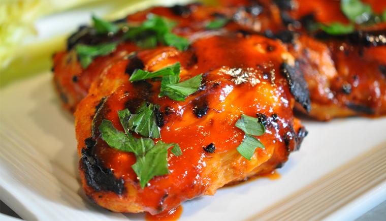 Honey Sriracha Sauce Chicken Thighs