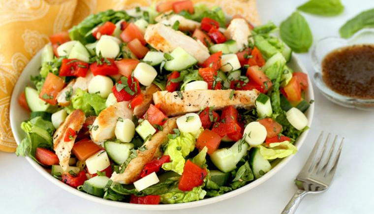 Margherita Grilled Chicken Salad