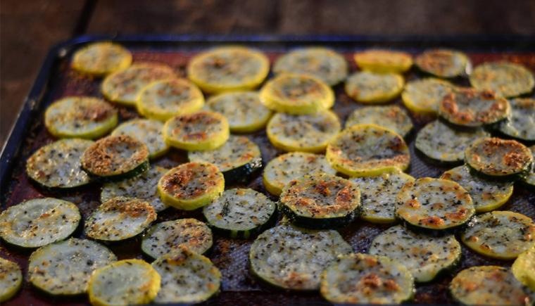 Roasted Zucchini Chips Recipe