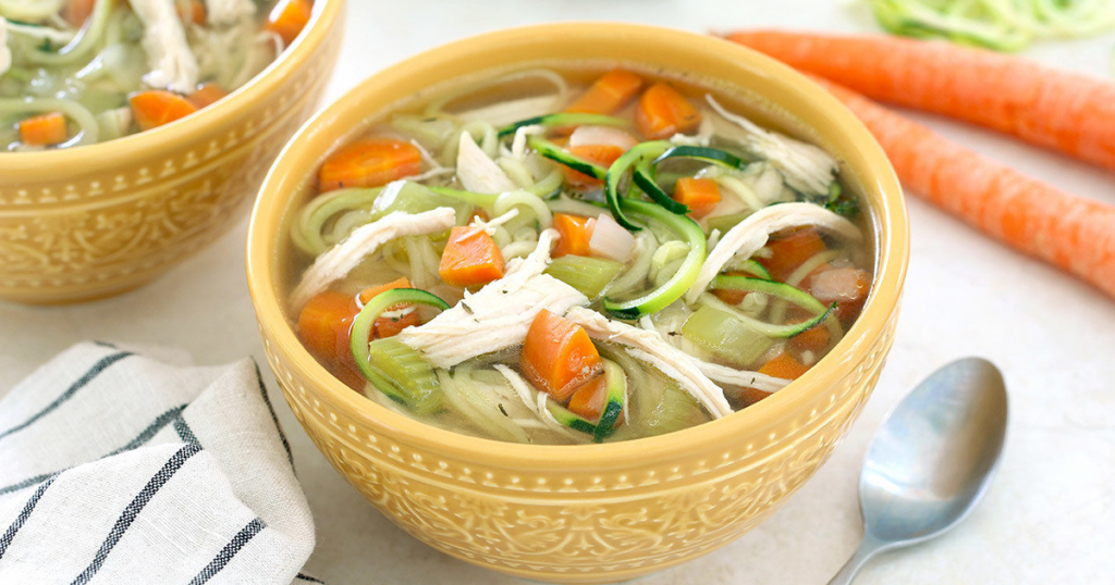 Instant Pot Chicken Zoodle Soup Recipe