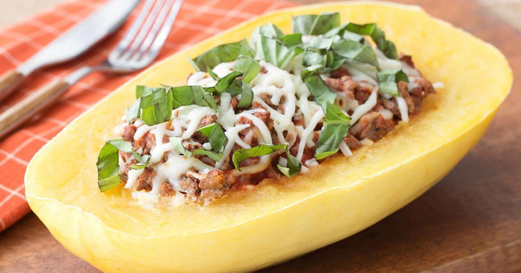 Lasagna-Stuffed Spaghetti Squash Recipe (No Pasta)