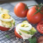 Tomato Breakfast Stack Recipe, Low-Calorie & 11g Protein