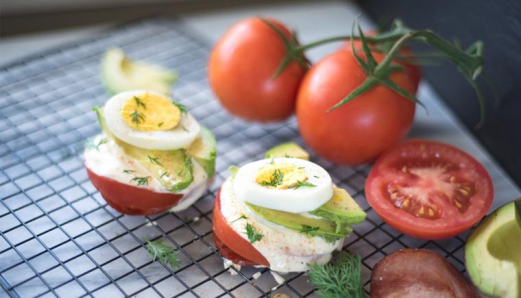 Tomato Breakfast Stack