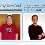 Before & After VSG with MeMySleeveAndI, losing 122 pounds!