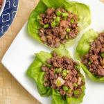 Teriyaki Beef Lettuce Cups Recipe
