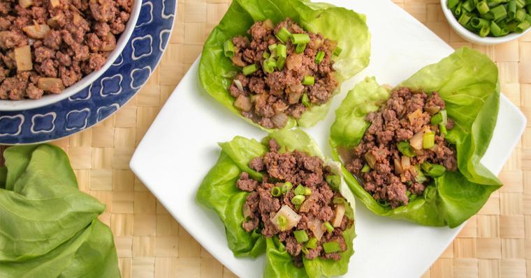 Teriyaki Beef Lettuce Cups