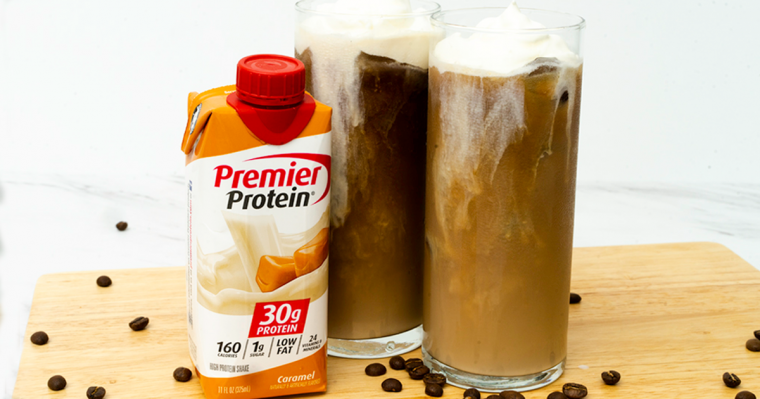 Caramel Cold Brew Coffee with Sea Salt Foam - Premier Protein