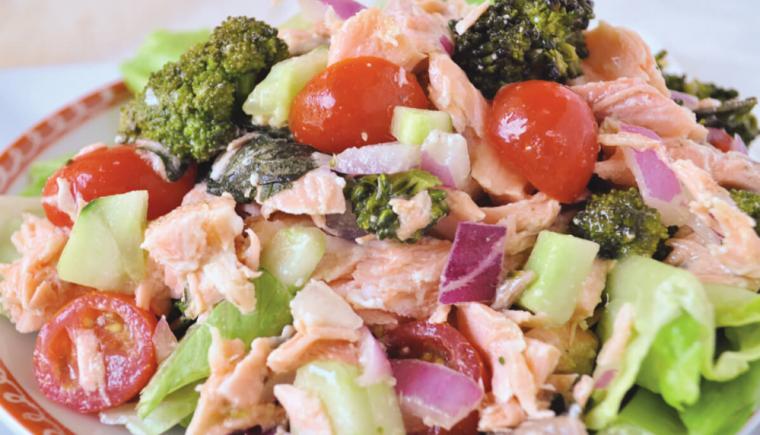 Roasted Salmon and Broccoli Salad-recipe