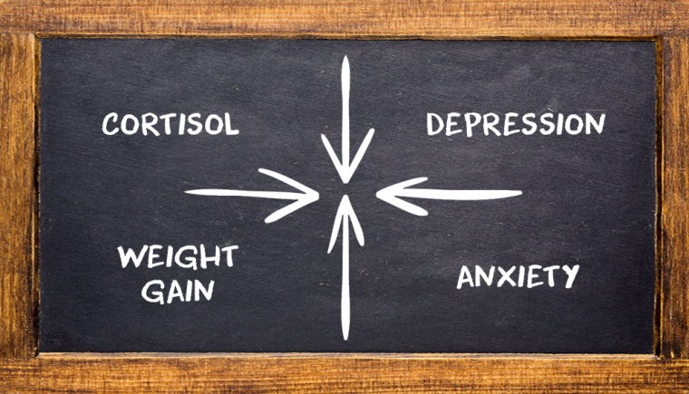 cortisol depression weight gain anxiety 1