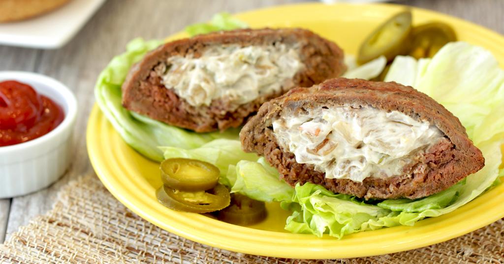 Jalapeno Popper Stuffed Burger Patties