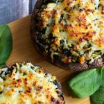 Chicken Florentine Stuffed Portobello Mushrooms Recipe