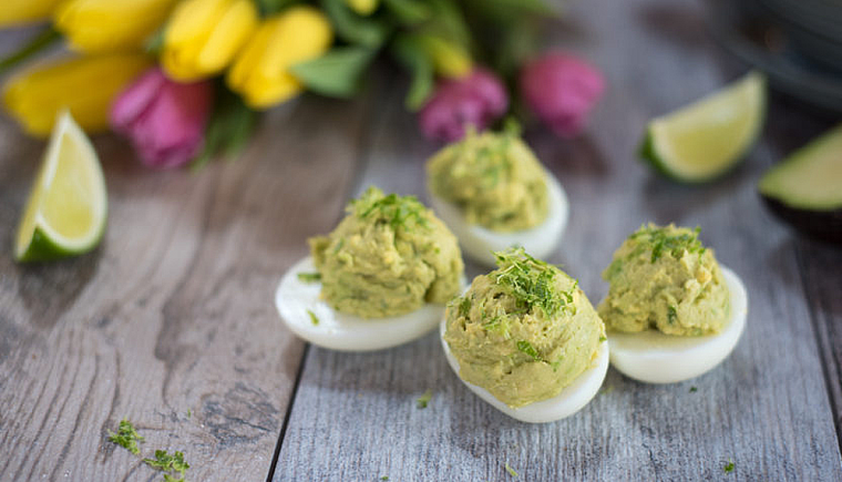 3-Ingredient Avocado Deviled Eggs 2