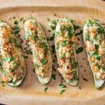 Zucchini-Stuffed Hot Chicken Salad Recipe