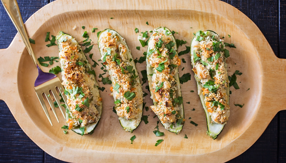 Zucchini-Stuffed Hot Chicken Salad Recipe