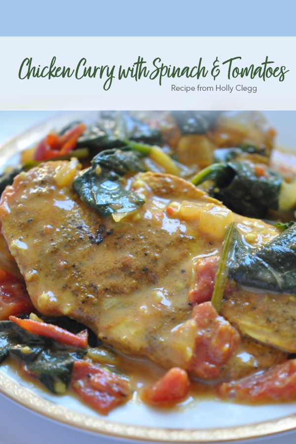 Pinterest Chicken Curry with Spinach Tomatoes