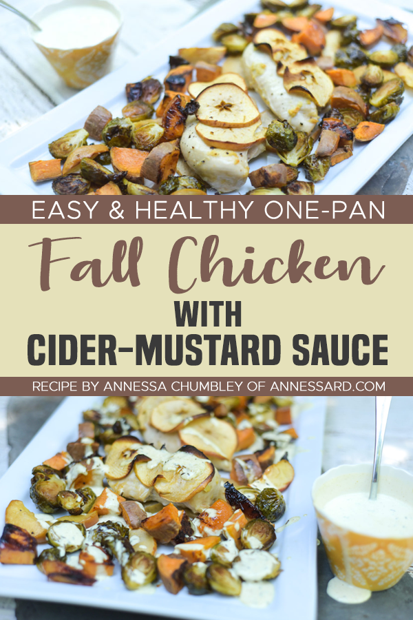 Pinterest One Pan Fall Chicken with Cider Mustard Sauce
