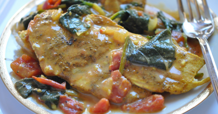 Chicken Curry with Spinach & Tomatoes