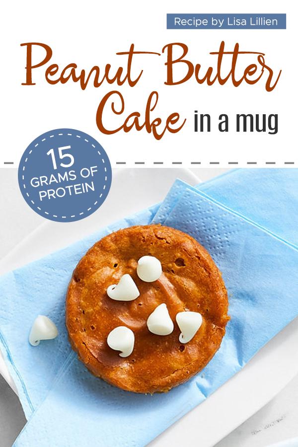 Pinterest Peanut Butter Cake in a Mug 1