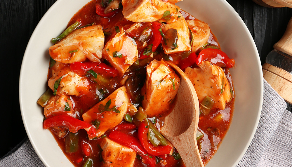 Slow-Cooked Chicken Cacciatore