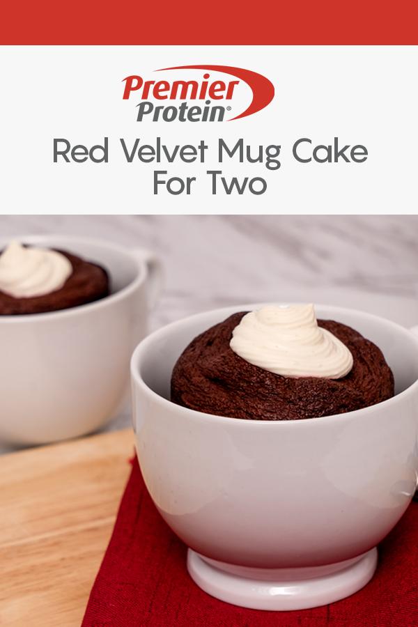 Pinterest Premier Protein Red Velvet Mug Cake Recipe 3