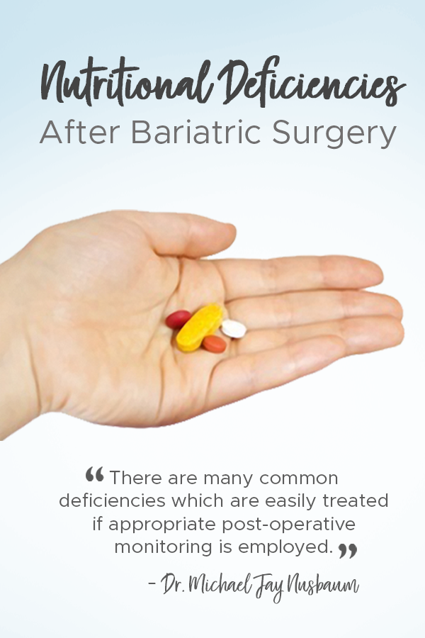 Pinterest nutritional deficiencies after bariatric surgery